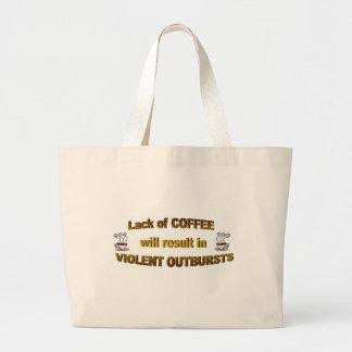 コーヒー欠乏 ラージトートバッグ