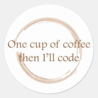 コーヒー汚れ ラウンドシール