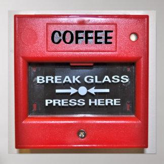 コーヒー火災警報 プリント