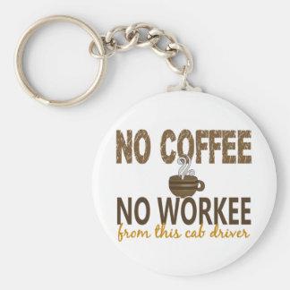 コーヒー無しWorkeeのタクシー運転手無し キーホルダー