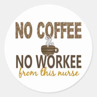 コーヒー無しWorkeeのナース無し ラウンドシール