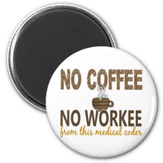 コーヒー無しWorkeeの医学のコーダー無し マグネット