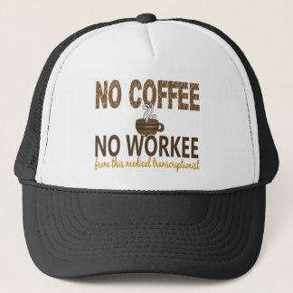 コーヒー無しWorkeeの医学のTranscriptionist無し キャップ