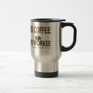 コーヒー無しWorkeeの原子力発電所の労働者無し トラベルマグ