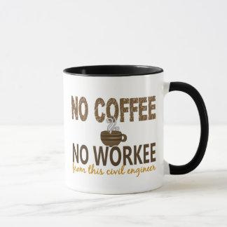 コーヒー無しWorkeeの土木技師無し マグカップ