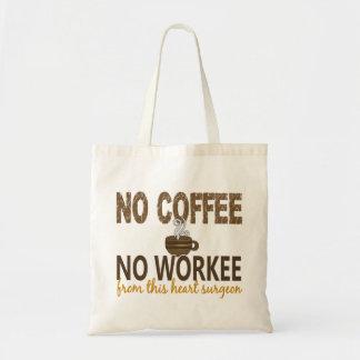 コーヒー無しWorkeeの心臓外科医無し トートバッグ