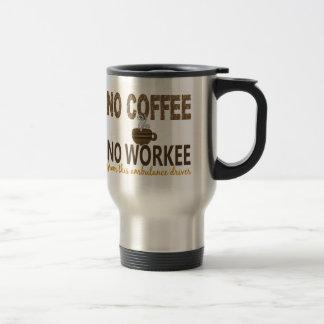 コーヒー無しWorkeeの救急車の運転者無し トラベルマグ
