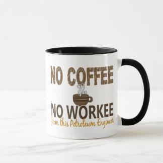 コーヒー無しWorkeeの石油エンジニア無し マグカップ