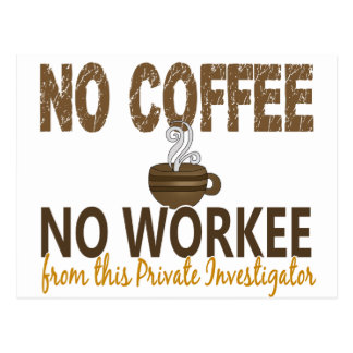 コーヒー無しWorkeeの私立探偵無し ポストカード