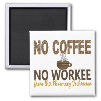 コーヒー無しWorkeeの薬学の技術者無し マグネット