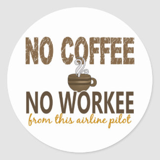 コーヒー無しWorkee航空会社のパイロット無し ラウンドシール