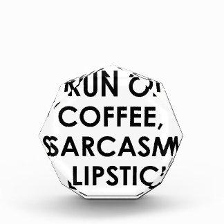 コーヒー皮肉の口紅 表彰盾