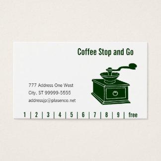 コーヒー粉砕の穿孔器及びロイヤリティ 名刺