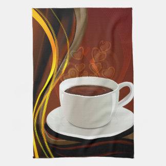 コーヒー芸術のカフェ キッチンタオル