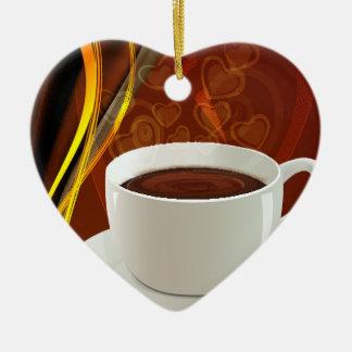 コーヒー芸術のカフェ セラミックオーナメント