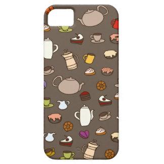 コーヒー茶マグのコップパターン iPhone SE/5/5s ケース