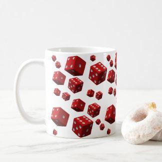 コーヒー茶皆のための赤いサイコロのマグ コーヒーマグカップ