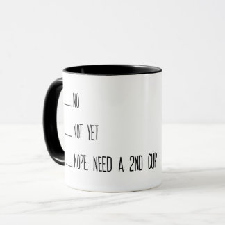 コーヒー計量カップ、いいえ、まだ、マグ、朝 マグカップ
