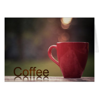 コーヒー話のすべての行事カード グリーティングカード