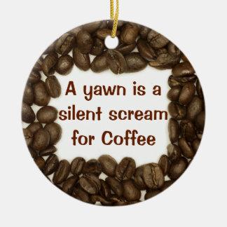 コーヒー豆のオーナメント セラミックオーナメント