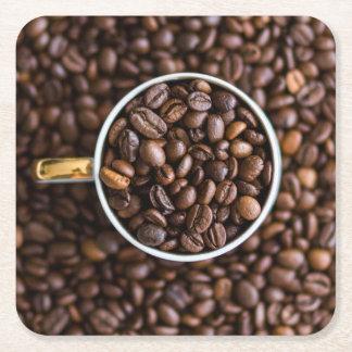 コーヒー豆のコースター スクエアペーパーコースター