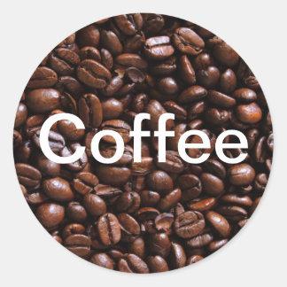 コーヒー豆のステッカー ラウンドシール