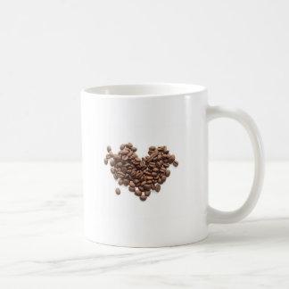 コーヒー豆のハート コーヒーマグカップ
