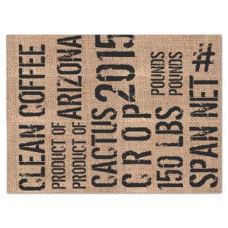 コーヒー豆のバッグのティッシュペーパー 薄葉紙