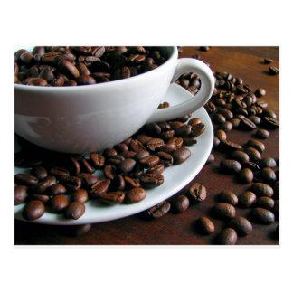 コーヒー豆のプリントの郵便はがき ポストカード