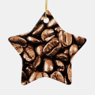 コーヒー豆の抽象的な回復のレストランのコカノキ セラミックオーナメント