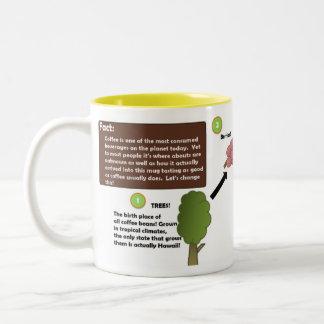 コーヒー豆の記録 ツートーンマグカップ