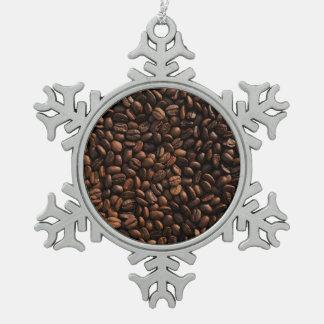 コーヒー豆の質 スノーフレークピューターオーナメント
