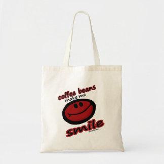 コーヒー豆は私を微笑させます トートバッグ