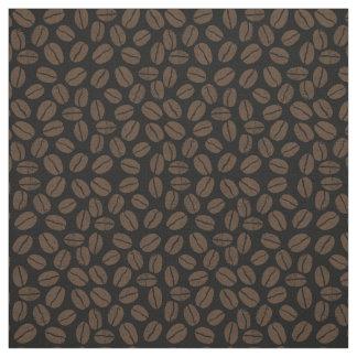 コーヒー豆パターン ファブリック