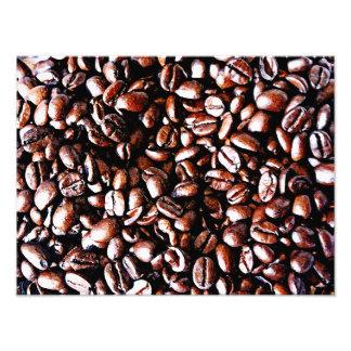 コーヒー豆パターン-暗いロースト フォトプリント