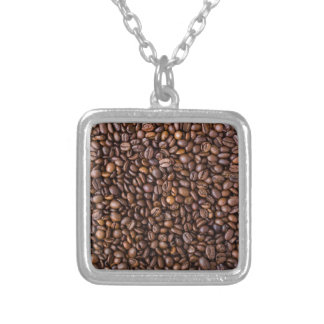 コーヒー豆! シルバープレートネックレス