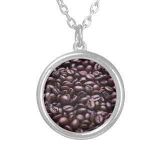 コーヒー豆 シルバープレートネックレス