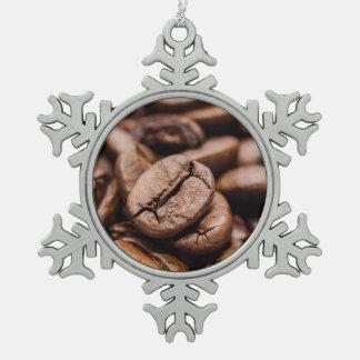 コーヒー豆 スノーフレークピューターオーナメント