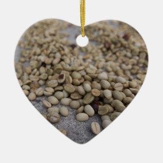 コーヒー豆 セラミックオーナメント