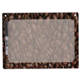 コーヒー豆-ホワイトボード キーホルダーフック付きホワイトボード