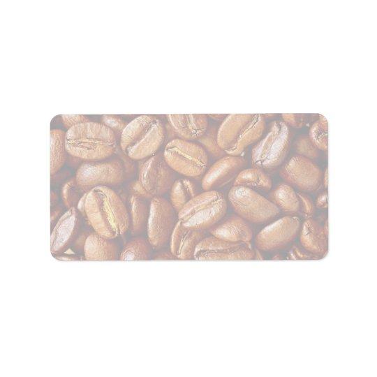 コーヒー豆 宛名ラベル