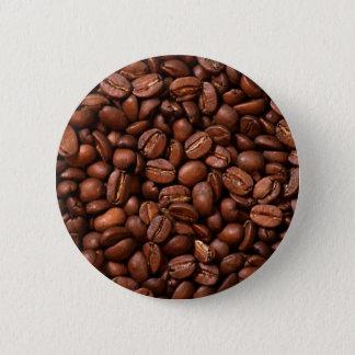 コーヒー豆 5.7CM 丸型バッジ