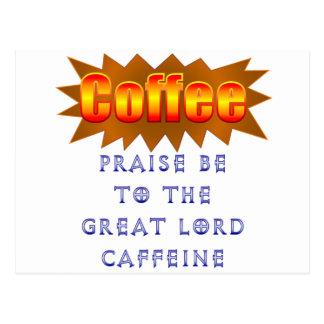 コーヒー賞賛はあります ポストカード