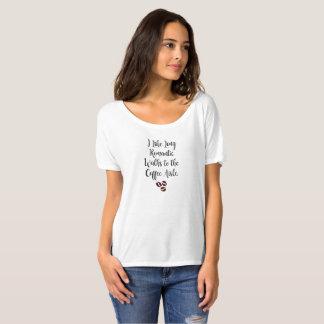 コーヒー通路へのロマンチックな歩行 Tシャツ