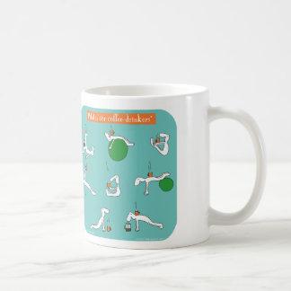 コーヒー酒飲みのためのpilates コーヒーマグカップ