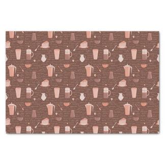 コーヒー関連の要素が付いているパターン 薄葉紙
