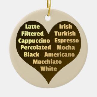 コーヒー陶磁器のオーナメントのための愛 セラミックオーナメント