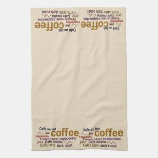 コーヒー雲の台所タオル キッチンタオル
