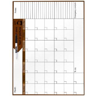 コーヒー6Wカレンダーの愛 ホワイトボード
