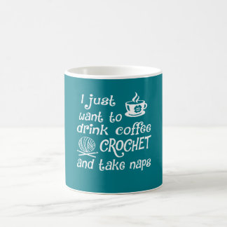コーヒー、かぎ針編みおよび昼寝 コーヒーマグカップ